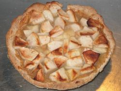Picture of a homemade apple pie I made from the apples in the tree in my yard